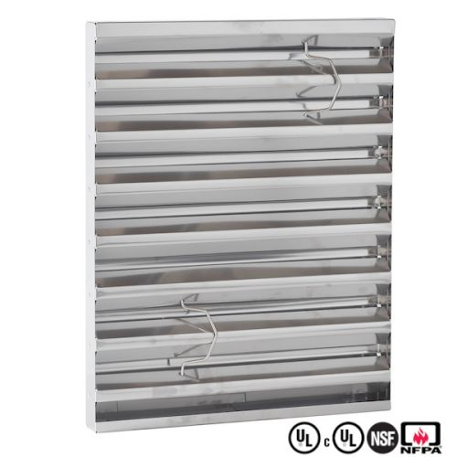 """Grease Filter 2' & 4' ventless 16"""" x 20"""" x 2"""""""