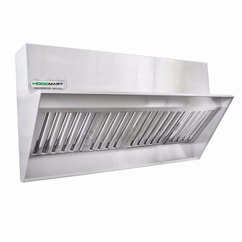 Restaurant Low Proximity Backshelf Hood 12' x 23""