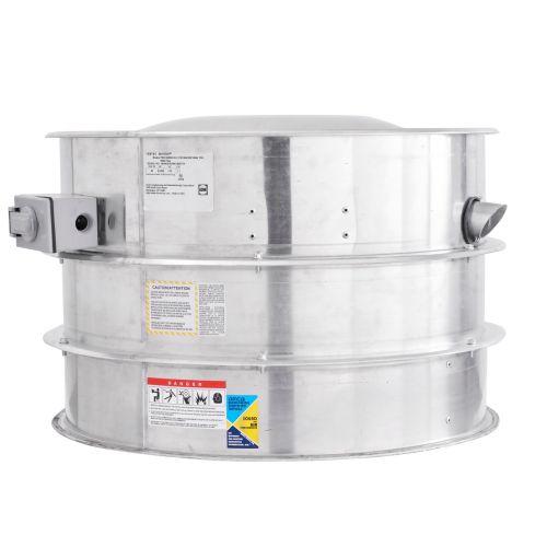 Belt Drive Centrifugal Upblast Seismic Exhaust Fan 2000 CFM, 1674 RPM, 1PH