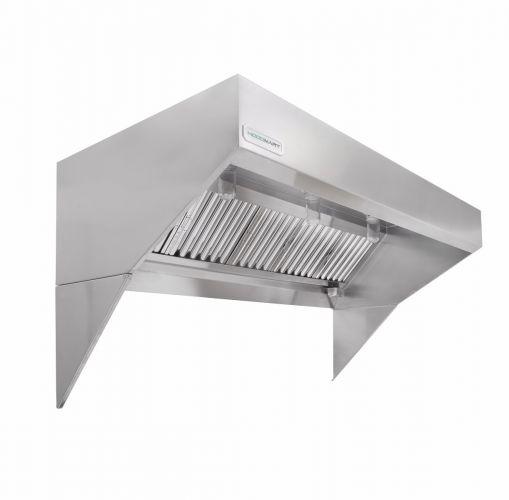 "Low Ceiling Sloped Front Restaurant Exhaust Hoods - 9' x 48"""