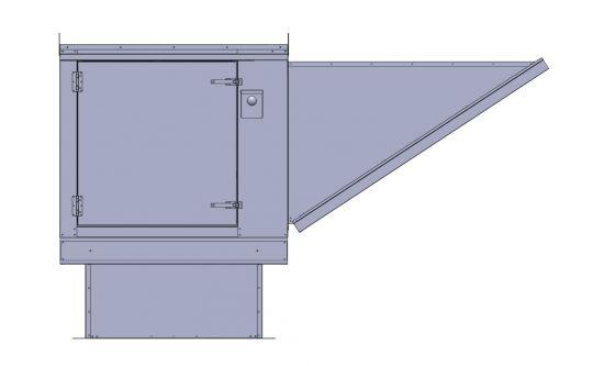 "SF8H Hurricane Rated Supply Fan .75 HP, 3PH, 230V, 2500 CFM, 12"" Blower"