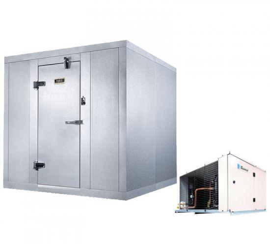 "Indoor Cooler 8' x 16' x 7' 2 1/4"" - Box w/ Remote (35°F)"