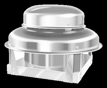 Direct Drive Downblast Exhaust Fan 300 CFM, 1725 RPM, 1PH w/3 AMP Var. Speed Control