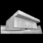 """HoodMart Restaurant Hood System w/ PSP Tempered Makeup-Air 11'x48"""""""