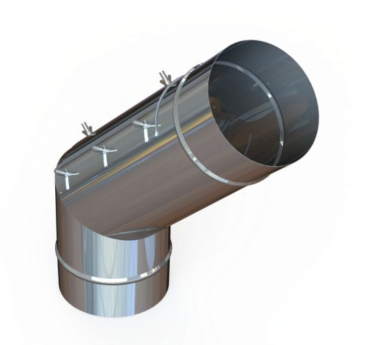 "18"" Diameter Grease Duct 45 Degree Elbow w/ Access"