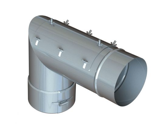 """22"""" Diameter Grease Duct 87 Degree  Elbow w/ Access"""