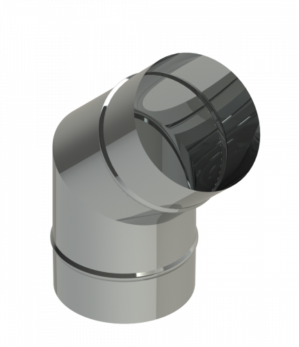 """18"""" Diameter Grease Duct 45 Degree Elbow No Access Panel"""