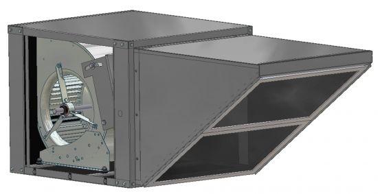 Belt Drive Inline Outdoor Fan 1800-2100 CFM
