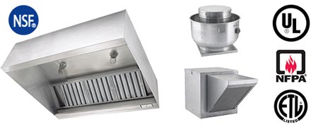 Stainless steel makeup air hoods